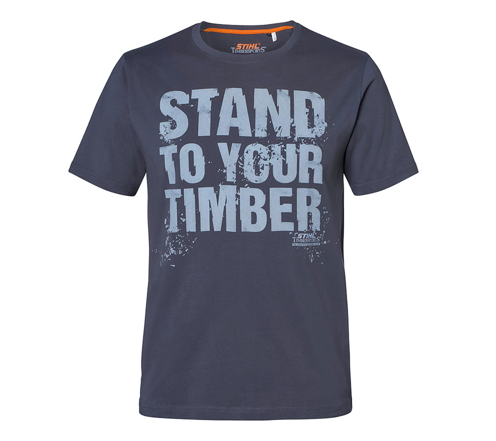 "STIHL Tričko ""STAND TO YOUR TIMBER"" tmavošedé"